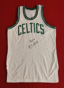 KC Jones Signed Authentic Boston Celtics White Sand Knit Road Jersey