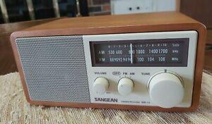 SANGEAN WR11 Wood Cabinet AM/FM Tabletop Radio tested working