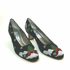 Ros Hommerson Womens 9.5 S Holiday Party Pumps Heels Ugly Tacky Christmas Shoes