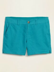 NWT: old navy Mid-Rise Linen-Blend Everyday Shorts for Women 5' $27
