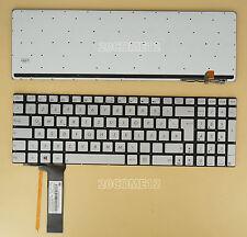 NEW for ASUS R552JK R552JV R552LF Keyboard Backlit German Tastatur Silver
