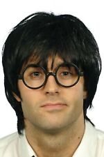 Adult Schoolboy Set Harry Potter Black Wig and Glasses Fancy Dress Accessory
