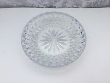 VINTAGE SIGNED LARGE VAL ST LAMBERT CRYSTAL GLASS ASHTRAY