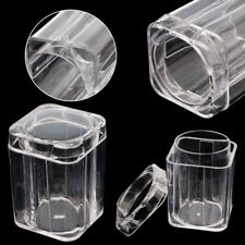 Clear Plastic Square Coin Storage Collection Tube Capsule Box for 30mm Coins