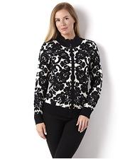 Etoile Flocked Zip Through Jacket Black Size UK M rrp £38 DH078 CC 05