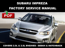SUBARU 2008 2009 2010 2011 2012 2013 2014 IMPREZA FACTORY SERVICE REPAIR MANUAL