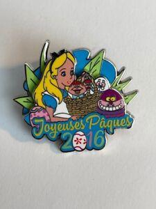 DLP Paris Alice In Wonderland Easter 2016 Joyeusus Paques LE600 Disney Pin (A6)