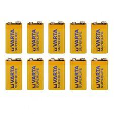 10 VARTA SUPERLIFE Batterie 9V Block 6F22 Rauchmelder DJ Funkmikrofone kein Akku