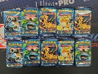 POKEMON TCG XY EVOLUTIONS 10 FACTORY SEALED BOOSTER PACK LOT IN STOCK FREE SHIP