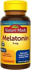 Nature Made Vitamin Melatonin 3mg Sleep Aid 120 Tablets