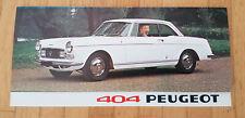 Peugeot 404 Coupé Cabriolet - Brochure Dépliant Modelljahr 1967 (französisch)