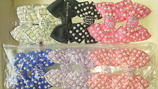 Joblot 12 pcs Bow Design Sparkly hairclips hairgrips NEW wholesale lot 18
