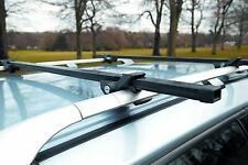 UNIVERSAL LOCKABLE ANTI THEFT CAR ROOF BARS FOR CARS WITH RAILS LOCKING ROOF BOX