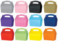 10 Treat Boxes - Choose From 13 Colours - Cupcake Gift Party Loot Bag