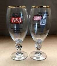 New listing 2X Stella Artois Give Water Change Lives Red Label Chalice Glass Set Brand New