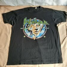 """Vintage 1989 Winger """"Too Tuff to Tame Tour"""" T-Shirt XL Rare Full Color"""