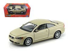 1/24 Bburago Volvo C70 Coupe Gold Diecast Model Car Gold 18-22100