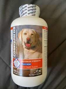 Cosequin DS Maximum Strength Plus MSM for Dogs All Sizes (250 Count) NEW 4/2023