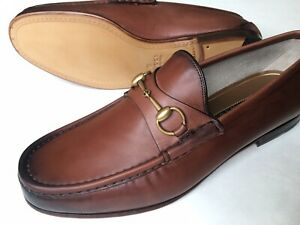 GUCCI Mens 1953 Roos Horsebit Brown Leather Loafers UK 10.5 (US 11) $800