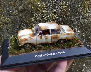 Opel Kadett B 1965 Junk Yard Handmade Diorama, Scale model, Diecast scale 1:43