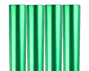 "4 Rolls - Metallic Green Wrapping Paper - 30"" x 300"" JUMBO Rolls - 250 Sq Ft"