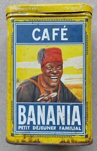 Boîte publicitaire Métal Banania Café ancienne