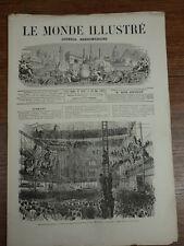 LE MONDE ILLUSTRE 1869 Nr 632 Place Marché MOSTAGANEM CARNAVAL EN BRETAGNE