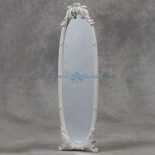 White Floor Standing Mirror / Free standing Mirror/ Dressing Mirror/ Shabby Chic