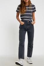 new LEVI'S 501 vintage black JEANS W26 L32 size UK 8 higher waist womens ladies