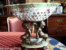 JARDINNIERE céramique porcelaine & Métal 4,174 kg ca39cml x28, 4cmh très bon état