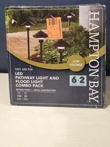 Hampton Bay Low-Voltage Bronze Integrated LED Light Kit (8-Pack)