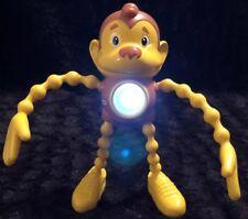 Little Tikes Flashlight Twisty-Glo MONKEY Yellow & Brown Light  Strobe Toy