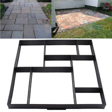 Plactic Pathmate Stone Paving Mold Concrete Stepping Walk Way Mould Paver 8 Grid