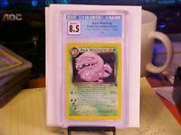 CGC 8.5 Near Mint/Mint+ Pokemon 2000 French Dark Weezing Holo Team Rocket 14/82
