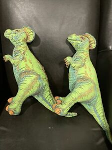Dinosaur Plush Green Vintage 1992 Determined Productions Applause Pair