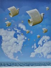 Rafal Olbinski LETTERS TO EUROPE HAND SIGNED NUMBERED 70/250 ORIGINAL SERIGRAPH