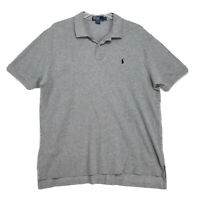 Polo Ralph Lauren Pony Shirt Mens Size XXL 2XL Gray Short Sleeve Embroidered