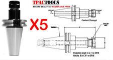 5PC CAT40 ER16 PRECISION COLLET CHUCK 20000 RPM TRUE BALANCE ACURATE NEW