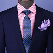 "Blue Italian  Geometric 3"" Necktie Business Elegance Formal Business Occasion"