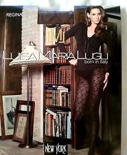 Luisa Maria lugli Regina Micro Tights With Rhombus Design Brown Pantyhose Size S