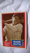 Carte de baseball de Babe ruth!Edition limitée!