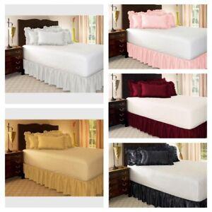 Elastische Bettvolant Bettrock Bettdecke mit Rock für Schlafzimmer