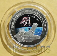 2016 Russia First Space Walk Silver Proof Oz Color Coin Alexey Leonov Astronaut