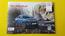 Toyota Hilux Active Icon Invincible X sales brochure catalogue June 2016 MINT