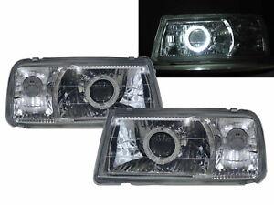 VITARA ET/TA MK1 88-98 Guide LED Halo Headlight Chrome V1 for SUZUKI LHD