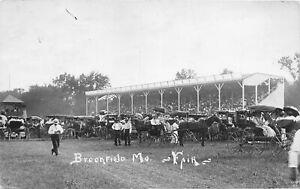 H37/ Brookfield Missouri RPPC Postcard 1912 Fairgrounds Grandstand Autos