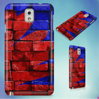 BLUE AND RED BRICK FILLED HARD CASE FOR SAMSUNG GALAXY PHONES