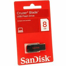 Lot of 10 SanDisk Cruzer Blade 8GB 8G USB 2.0 Flash Thumb Drive CZ50 Retail