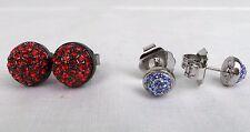 MIMCO Jewellery- Jetset Dome Stud Twin Set Earrings- Scarlet Sapphire- BNWT