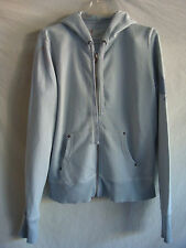 WOMENS AUTH GAP LONG-SLEEVE HOODED CARDIGAN SWEATER PREOWNED LIGHT BLUE SZ M